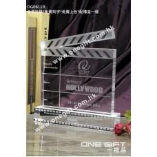 OG06119 全透明電影拍板水晶座