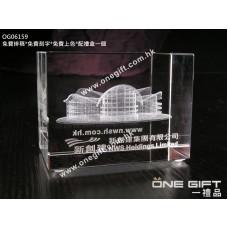 OG06159 全透明內雕香港會展水晶