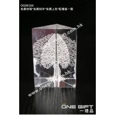 OG06166 全透明內雕樹水晶