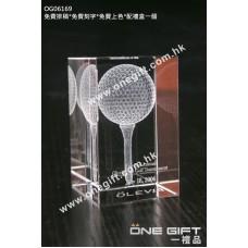 OG06169 全透明內雕高爾夫球水晶