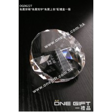 OG06227 全透明水晶紙鎮
