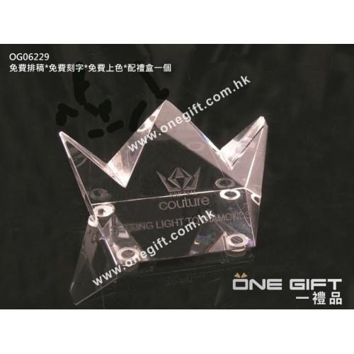 OG06229 全透明小皇冠水晶紙鎮