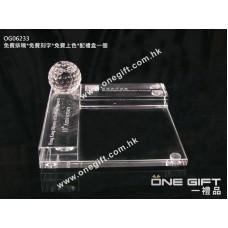 OG06233 全透明水晶卡片座