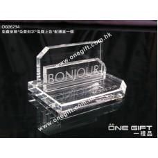 OG06234 全透明水晶卡片座