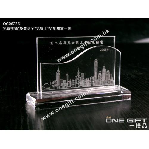 OG06236 全透明水晶維景卡片座