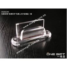 OG06240 全透明水晶卡片座