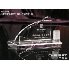 OG06244 全透明水晶卡片座