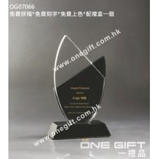 OG07066 紀念水晶配黑水晶底座