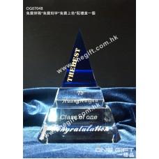 OG07048 藍色三角紀念水晶