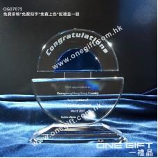 OG07075 紀念水晶連藍色水晶配件