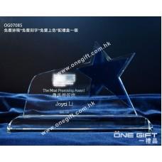 OG07085 藍色星星水晶座