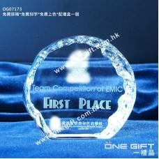 OG07173 全透明小壓形冰山水晶