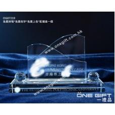 OG07219 全透明水晶卡片座