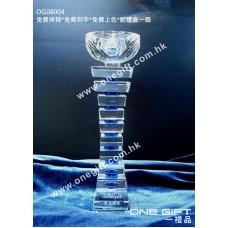 OG08004 柱形水晶連藍色水晶配件