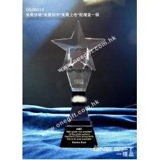 OG08019 星星水晶配黑水晶底座