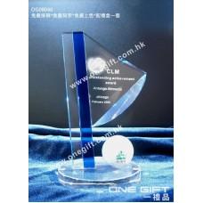 OG08040 高爾夫球水晶座