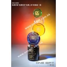 OG11002 圓形紀念水晶座