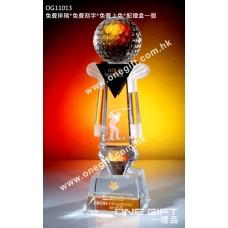 OG11013 高爾夫球水晶座