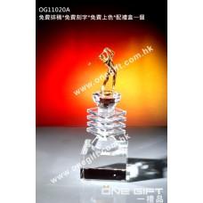 OG11020A 高爾夫球水晶連人像配件