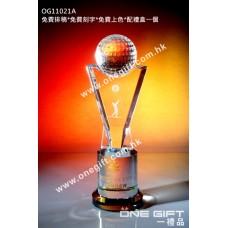 OG11021A 全透明高爾夫球水晶座