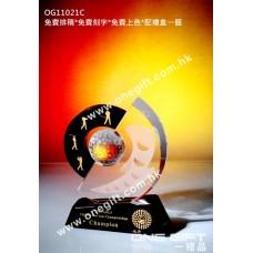 OG11021C 圓形高爾夫球水晶