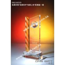 OG11021D 高爾夫球水晶連琥珀色水晶配件