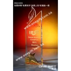 OG11031 金屬星星水晶獎座