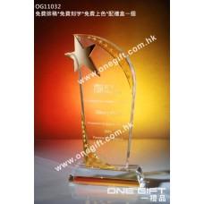 OG11032 金屬星星水晶獎座