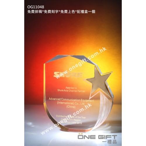 OG11048 金屬星星水晶座