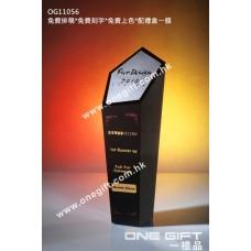 OG11056 黑色紀念水晶連銀面造字