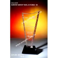 OG11059 溶冰紋紀念水晶座