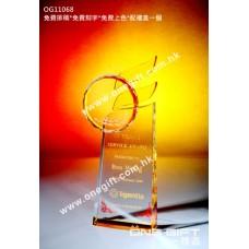 OG11068 紀念水晶連琥珀色水晶配件