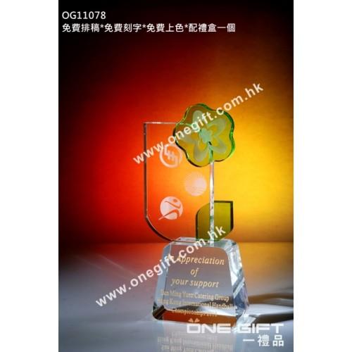 OG11078 花形水晶座