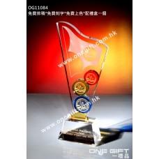 OG11084 彩色水晶紀念座