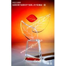 OG11089 葉形水晶座
