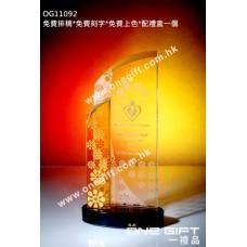 OG11092 琥珀色水晶配件紀念座