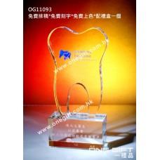 OG11093 全透明牙齒形水晶