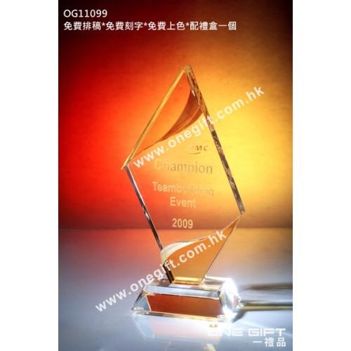 OG11099 菱形紀念水晶座