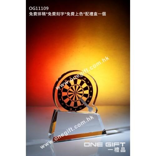 OG11109 全透明彩印的飛標水晶