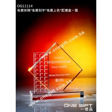 OG11114 全透明菱形紀念水晶