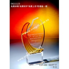 OG11123 紀念水晶連琥珀色水晶配件