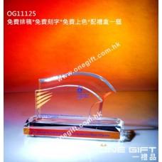 OG11125 全透明水晶咭片座