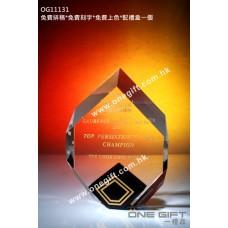 OG11131 尖形全透明紀念水晶座