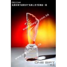 OG11144 人形全透明紀念水晶