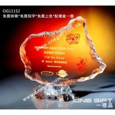 OG11152 全透明壓形冰山紀念水晶座