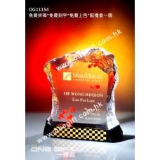 OG11154 全透明壓形紀念水晶座