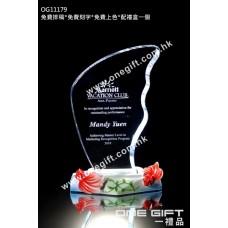 OG11179 紀念水晶連金魚陶瓷底座配件