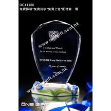 OG11180 紀念水晶連藍玫瑰陶瓷配件
