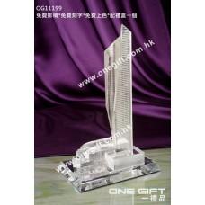 OG11199 全透明樓房模型水晶