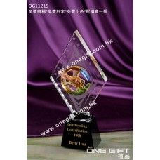 OG11219 菱形琉璃飛鷹水晶座